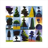 15 ways to clip your yew by Susan Deakin, Giclee Print