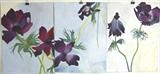 Anemone Triptych by Susan Deakin, Drawing, Pastel on Paper