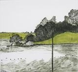 Marquee at Ashprington Point by Susan Deakin, Artist Print, Drypoint