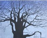 Oak in the Mist, Bow Creek by Susan Deakin, Artist Print, Linocut