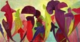 Pitcher Plants by Susan Deakin, Painting, Acrylic on canvas