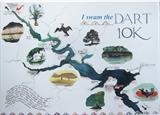 River Dart map by Susan Deakin, Giclee Print