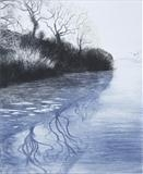 River Story by Susan Deakin, Artist Print, Drypoint