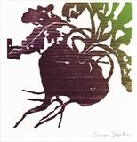 beetroot by Susan Deakin, Artist Print, woodcut